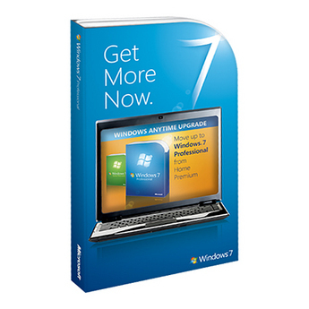 Microsoft Windows 7 Professional Anytime Upgrade from Home Premium Retail Box