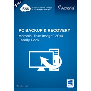 Acronis True Image 2014 Family Pack Retail Box