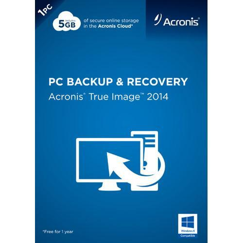 Acronis True Image 2014 PC Backup & Recovery 1PC Retail DVD