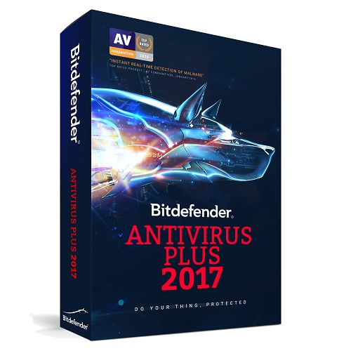 Bitdefender AntiVirus Plus 2017 (1 YR, 1 Device) Download - ON SALE