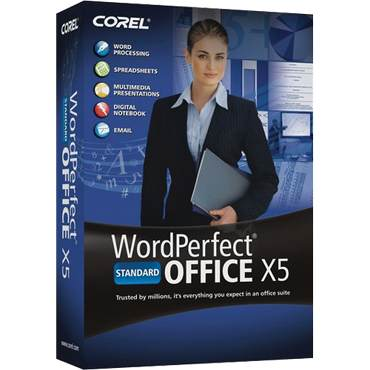 Corel WordPerfect Office X5 Standard Upgrade Retail Box