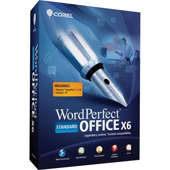 Corel WordPerfect Office X6 Standard Retail Box