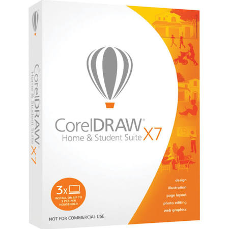 CorelDRAW Home and Student Suite X7 3PC Retail Box