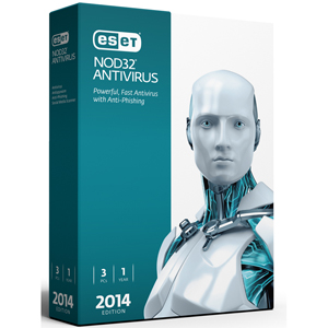 Eset NOD32 Antivirus 2014 3PC Retail Box