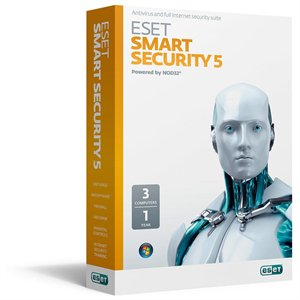 Eset Smart Security 5 (3 User) Retail Box (Free 6.0 Updates)