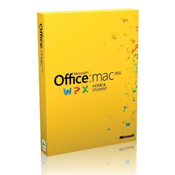 Microsoft Office 2011 Mac Home & Student (1 Mac) Disc Version Retail Box