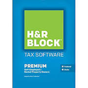 H&R Block 2015 Premium + State Tax Software PC/Mac Disc Retail Box