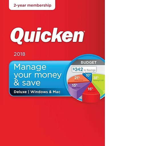 Trinity Software Distribution: Intuit Quicken Deluxe 2018 (2