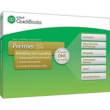 Intuit QuickBooks Premier 2016 Small Business Industry Editions PC (1 User) Retail Box