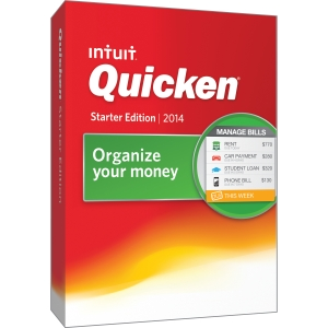 Intuit Quicken Starter Edition 2014 Retail Box