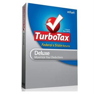 Intuit TurboTax Deluxe Federal + State + eFile 2012 Retail DVD - ON SALE