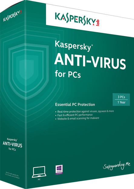 Kaspersky Anti-Virus 2014 (3 User) Retail Box