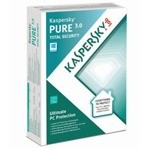 Kaspersky Pure 3.0 (3PC) Retail Box