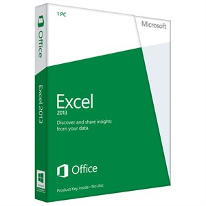 Microsoft Excel 2013 (1PC) Product Key Card Retail Box (Home Use)