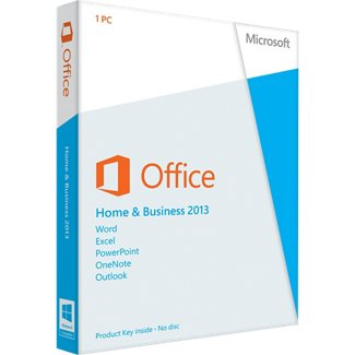 Microsoft Office 2013 Home & Business (1PC) Product Key Card Retail Box