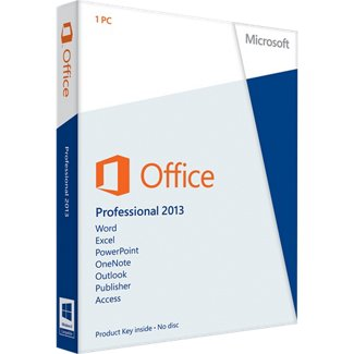 Microsoft Office 2013 Professional (1PC) Product Key Card Retail Box