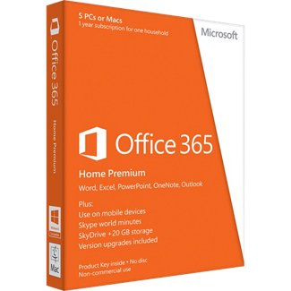 Microsoft Office 365 Home Premium 2013 PC/MAC 1 Year PKC Retail Box