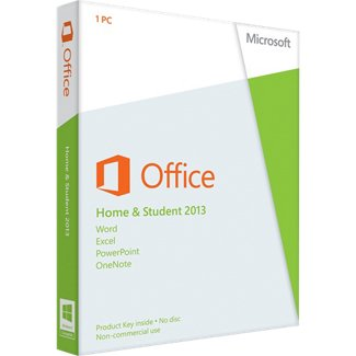 Microsoft Office 2013 Home & Student (1PC) Product Key Card Retail Box