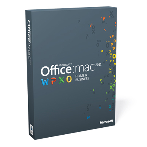 Microsoft Office 2011 Mac Home & Business Product Key Card (1 User) Retail Box