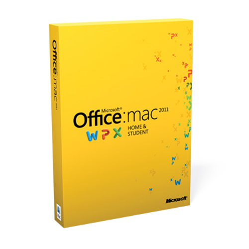 Microsoft Office MAC 2011 Home & Student Family Pack (3 User) Retail Box