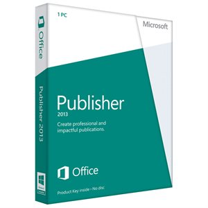 Microsoft Publisher 2013 (1PC) Product Key Card Retail Box