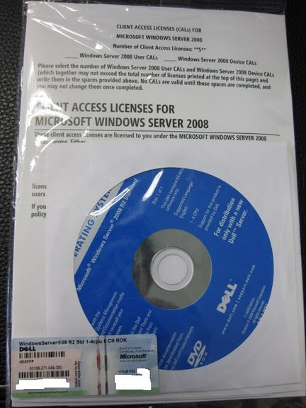 Microsoft Windows 2008 R2 Standard Server 5 Cal 64-bit OEM (Branded)