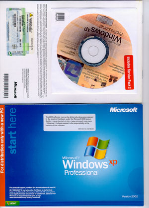 Microsoft Windows XP Professional SP2 (32 bit) OEM