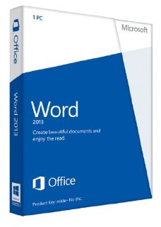 Microsoft Word 2013 (1PC) Product Key Card Retail Box (Home Use)