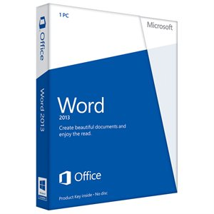 Microsoft Word 2013 Retail Box (Includes 32/64bit DVD)