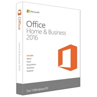 Microsoft Office 2016 Home & Business PKC Retail Box