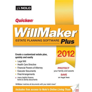 Nolo Press Quicken WillMaker Plus 2012 Retail Box