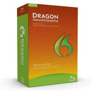 Nuance Dragon NaturallySpeaking 12 Home Retail Box (Includes Headset) - ON SALE