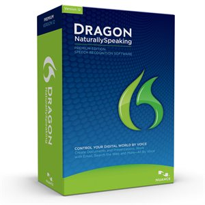 Nuance Dragon NaturallySpeaking 12 Premium Retail Box