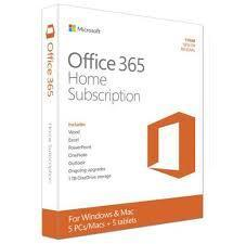 Microsoft Office 365 Home 5 Device 1-Year PKC Retail Box
