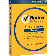 Symantec Norton Security Deluxe 3.0 (1YR, 5 PC/Mac) Retail Box