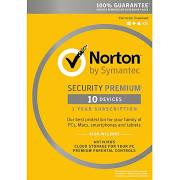 Symantec Norton Security with Antivirus Premium 3.0 (1YR, 10 PC/Mac) Retail Box