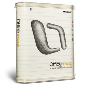 Microsoft Office 2004 Mac Student & Teacher 3 User Retail Box