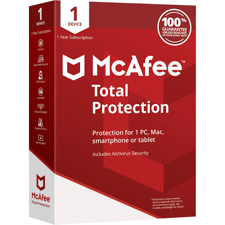 Trinity software distribution: mcafee total protection 2018 (1yr.